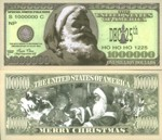 One Million Dollars Santa Fantasy Note