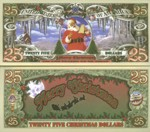 Twenty Five Dollar Christmas Fantasy Note