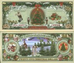 Twenty Five Dollar Holiday Cheer Fantasy Note