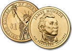 2008-P James Monroe Presidential Dollar Coin