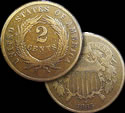 US 2 Cent Pieces