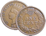 CJ-1 Indian Head Cent - Late 1800s to 1909