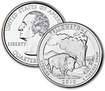 2010-P Yellowstone National Park Quarter - Uncirculated
