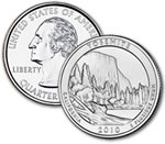 2010-P Yosemite National Park Quarter - Uncirculated