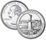 2011-P Gettysburg National Military Park Quarter - Uncirculated