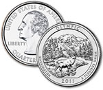 2011-P Olympic National Park Quarter - Uncirculated