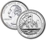 2011-P Vicksburg National Military Park Quarter - Uncirculated
