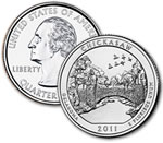 2011-P Chickasaw National Recreation Area Quarter - Uncirculated