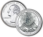 2012-P Hawaii Volcanoes National Park Quarter - Uncirculated