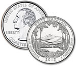 2013-P White Mountain National Forest Quarter - Uncirculated