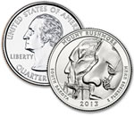 2013-D Mount Rushmore Quarter - Uncirculated