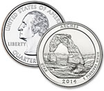 2014-D Arches National Park Quarter - Uncirculated