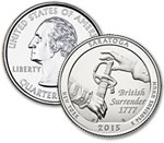 2015-P Saratoga National Historical Park Quarter - Uncirculated