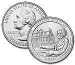 2017-P Frederick Douglass National Historic Site Quarter - Uncirculated