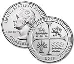 2019-P U.S. San Antonio Missions National Historical Park Quarter - Uncirculated
