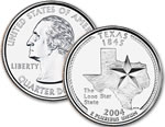 2004-P Texas Statehood Quarter
