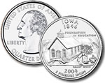2004-P Iowa Statehood Quarter