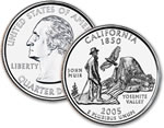 2005-P California Statehood Quarter