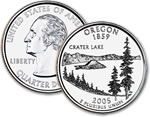 2005-D Oregon Statehood Quarter